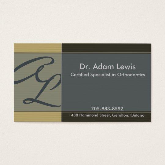 Orthodontist Business Card - Monogram