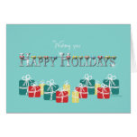 Orthodontist  Christmas Holiday Braces and Present Greeting Card