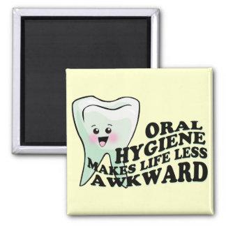 Orthodontist del higienista dental del dentista imán cuadrado