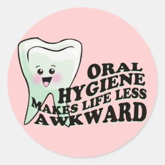 Orthodontist del higienista dental del dentista pegatinas redondas