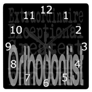 Orthodontist Extraordinaire Square Wall Clock