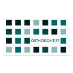 ORTHODONTIST (mod squares) Double-Sided Standard Business Cards (Pack Of 100)