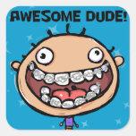 Orthodontist. New Braces. Good Job. Square Sticker