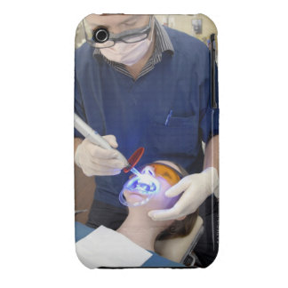 Orthodontist using UV light to set the concrete Case-Mate iPhone 3 Case