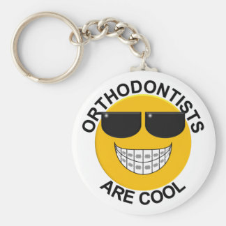 Orthodontists Are Cool Braces Smiley Face Keychain