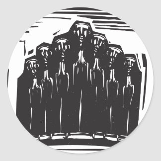 Orthodox Choir Classic Round Sticker