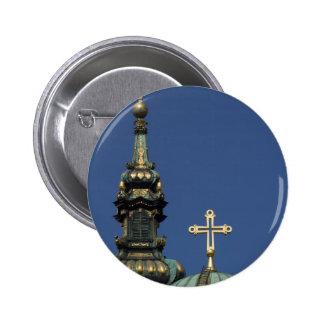 Orthodox Christian Church domes Button