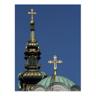 Orthodox Christian Church domes Postcard