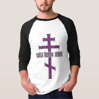 Orthodox Cross with Slavonic T-Shirt
