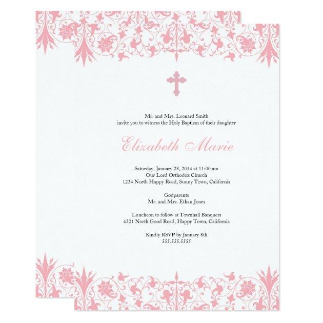 elegant baptism invitations  announcements  zazzle, Baptism invites