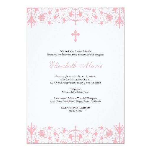 Orthodox Elegant Baptism Invitation | Zazzle
