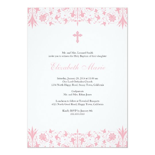 orthodox elegant baptism invitation zazzle com