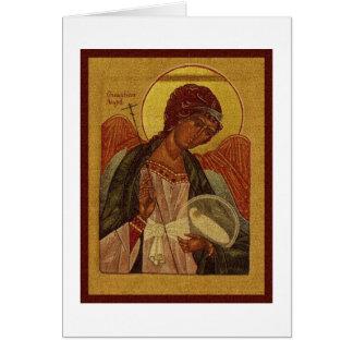 Orthodox Guardian Angel Card