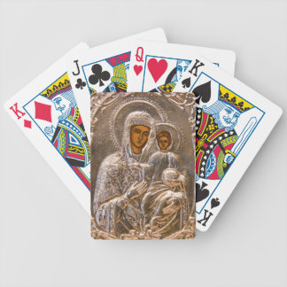 Orthodox icon bicycle playing cards