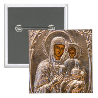 Orthodox icon pinback button