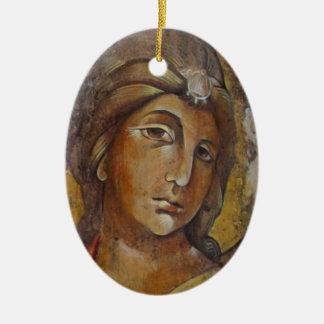 Orthodox Icon Christmas Ornamen-- Filermskaya Ceramic Ornament