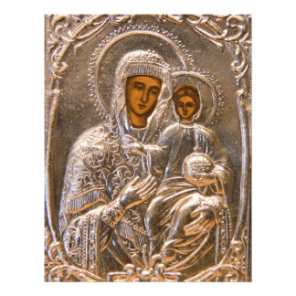 Orthodox icon full color flyer