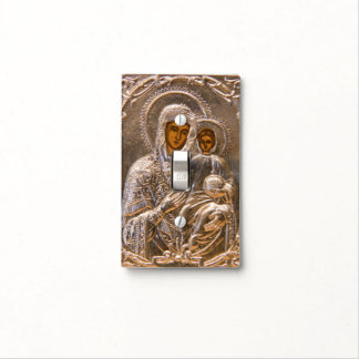 Orthodox icon light switch plate