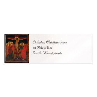 Orthodox Icon of Jesus on the Cross Double-Sided Mini Business Cards (Pack Of 20)