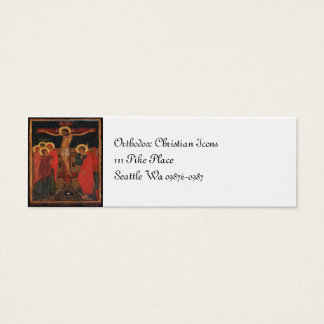 Orthodox Icon of Jesus on the Cross Mini Business Card