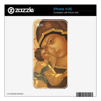 Orthodox Icon of Virgin Mary and Baby Jesus iPhone 4 Skins