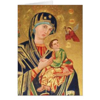 Orthodox ICON Serene Madonna Greeting Card