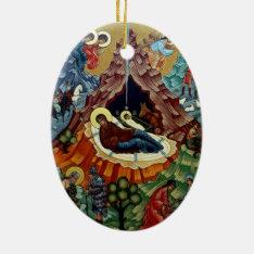 Orthodox Nativity Icon Christmas Ornament at Zazzle