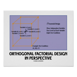 Orthogonal Factorial Design In Perspective Posters