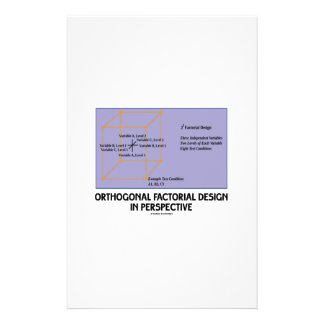 Orthogonal Factorial Design In Perspective Stationery