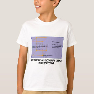 Orthogonal Factorial Design In Perspective T-Shirt