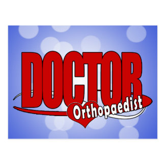ORTHOPAEDIST LOGO BIG RED DOCTOR POSTCARD