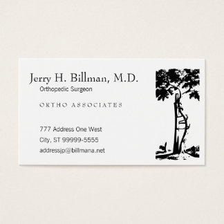 Orthopedic Crooked Tree Appointment Business Card