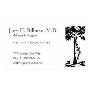 Orthopedic Crooked Tree Appointment Business Card Template