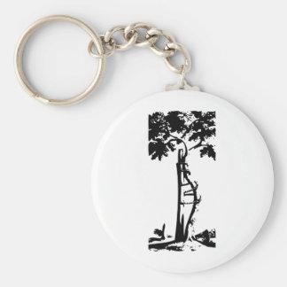 Orthopedic Crooked Tree Basic Round Button Keychain
