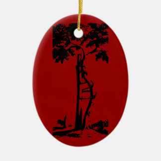 Orthopedic Crooked Tree Ceramic Ornament