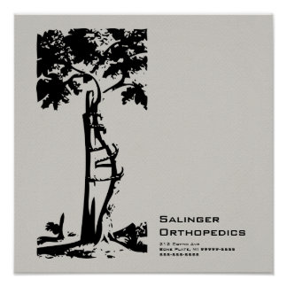 Orthopedic Crooked Tree Cloud Faux Flannel Posters