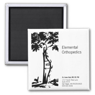 Orthopedic Crooked Tree 2 Inch Square Magnet