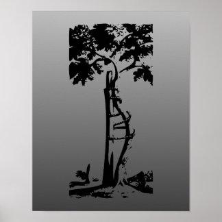 Orthopedic Crooked Tree on Gradient Poster