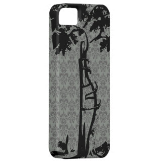 Orthopedic Crooked Tree on Gray Damask iPhone SE/5/5s Case