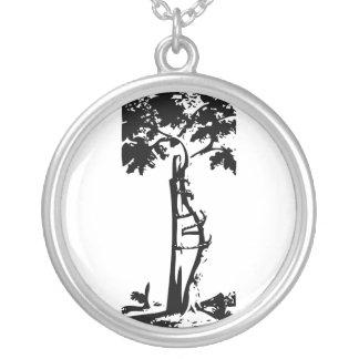 Orthopedic Crooked Tree Round Pendant Necklace