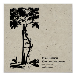 Orthopedic Crooked Tree Speckle Posters