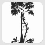 Orthopedic Crooked Tree Square Sticker