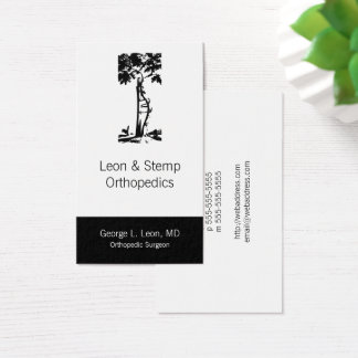 Orthopedic Crooked Tree Symbol Business Card