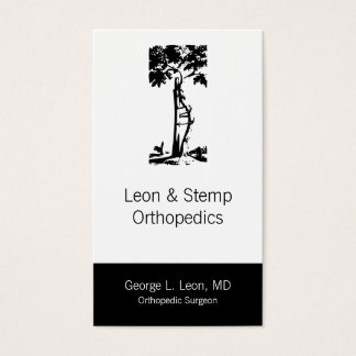 Orthopedic Crooked Tree Symbol Business Card