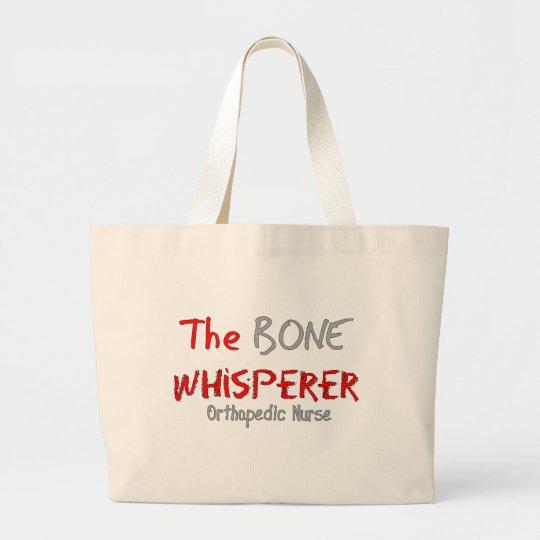 "Orthopedic Nurse ""THE BONE WHISPERER"" Large Tote Bag"