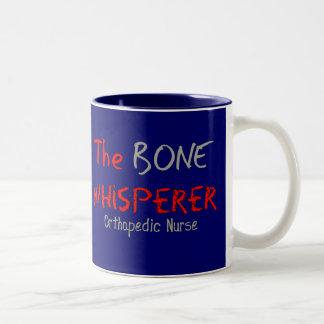 "Orthopedic Nurse ""THE BONE WHISPERER"" Two-Tone Coffee Mug"