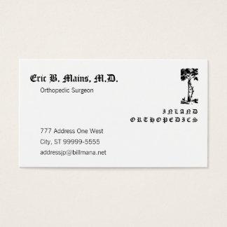 Orthopedic Surgeon Crooked Tree Cloister Business Card