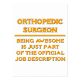 orthopedic surgeon job description postcard - Orthopedic Doctor Job Description