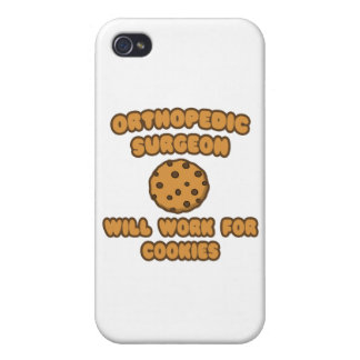 Orthopedic Surgeon .. Will Work for Cookies iPhone 4/4S Cases