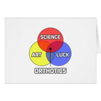 Orthotics .. Science Art Luck Card
